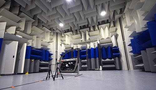 Anechoic Chamber Saint-Gobain in Bristol, UK, for noise and vibration