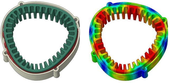 Modal Analysis of Stator Mount Assemblies | Saint-Gobain