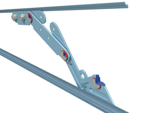 Pedestrian Safety Hood Hinge with NORGLIDE Bearings | Saint-Gobain