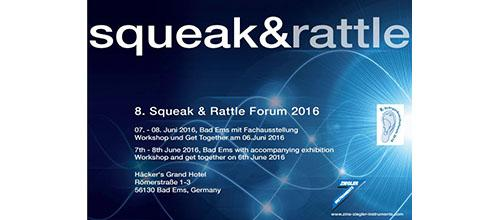 8 International Squeak & Rattle Forum 2016