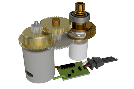 Torque Limiter Servo Assembly with Tolerance Ring
